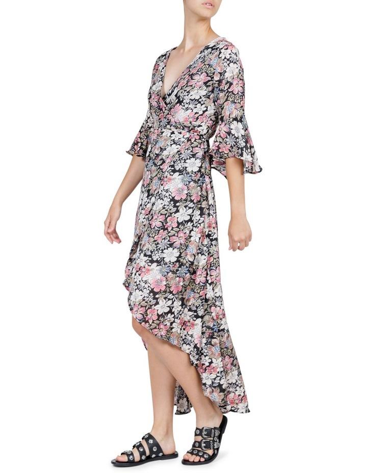 Vintage Floral Wrap Maxi Dress image 3