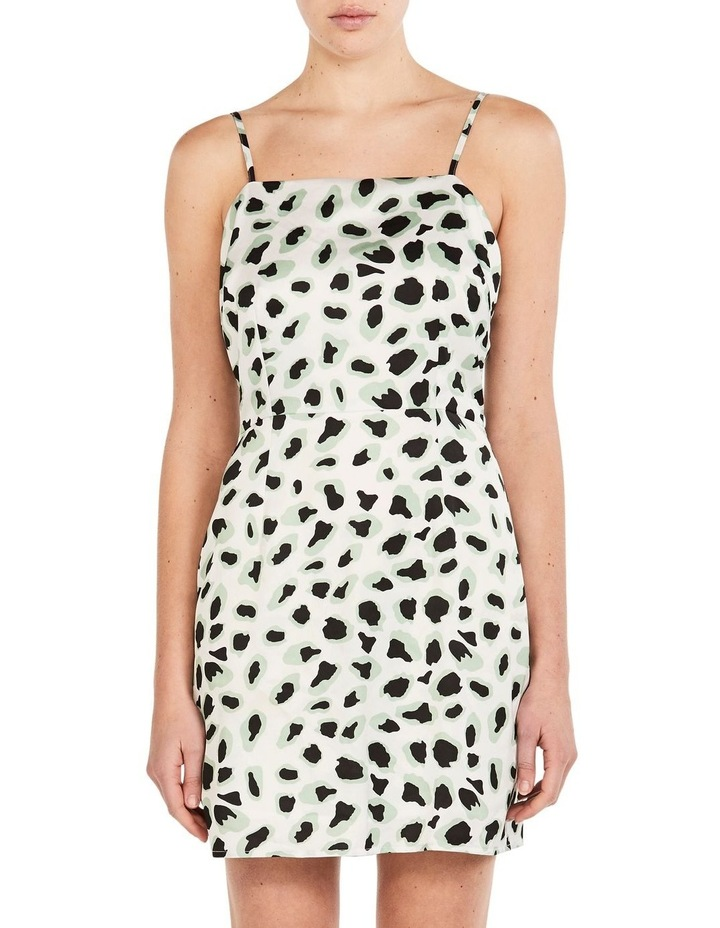 WHITE CORAL LEOPARD DRESS image 1