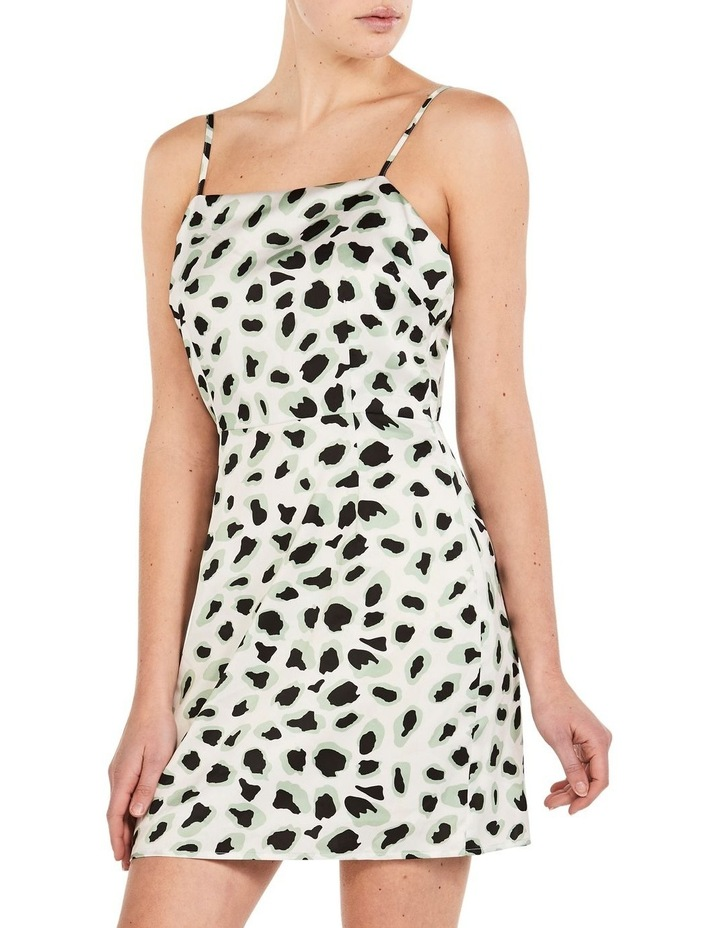 WHITE CORAL LEOPARD DRESS image 2