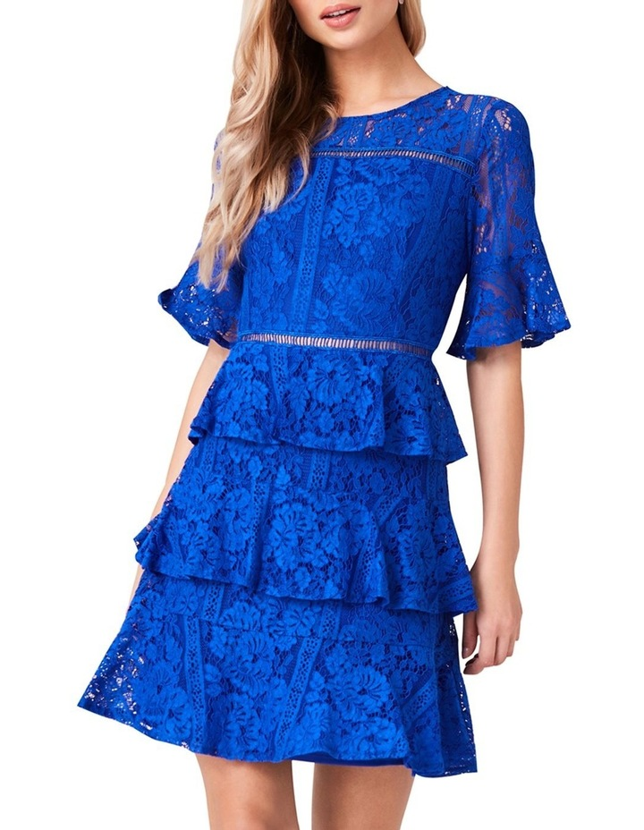 SHORT FIT AND FLARE DRESS image 1