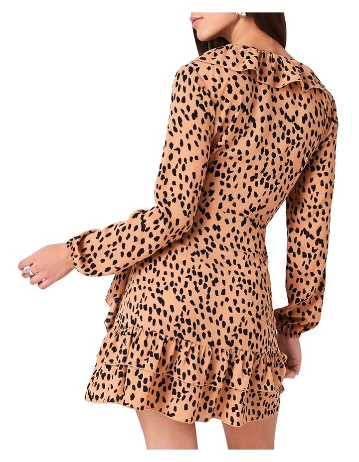 FRILL NECKLINE AND DOUBLE FRILL HEM DRESS image 2