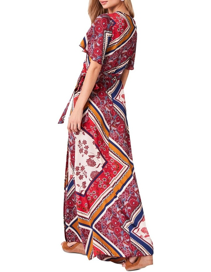 PRINTED MAXI WRAP DRESS image 2