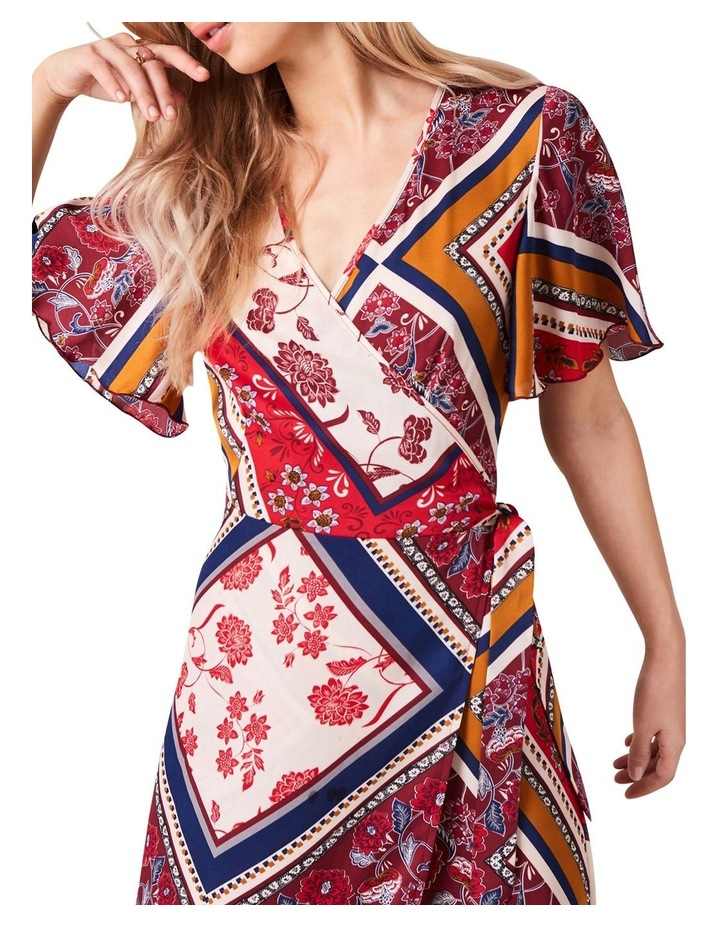 PRINTED MAXI WRAP DRESS image 3