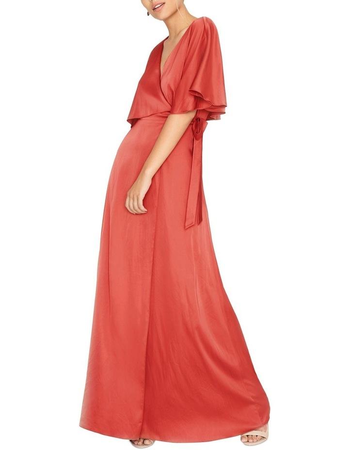 FRILL FRONT MAXI WRAP DRESS image 3