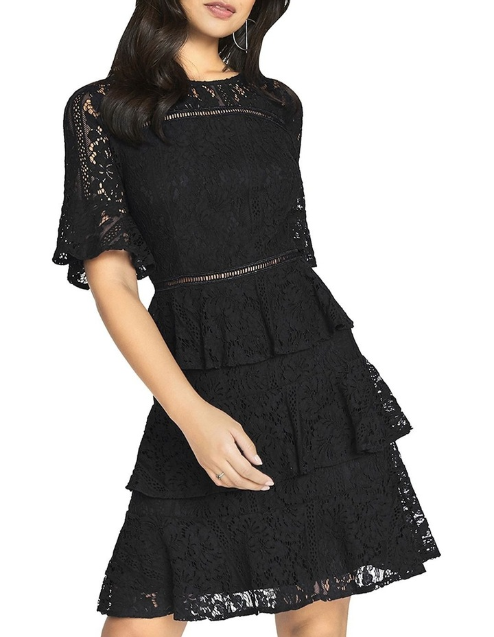 Lace Tiered Short Sleeve Dress image 1