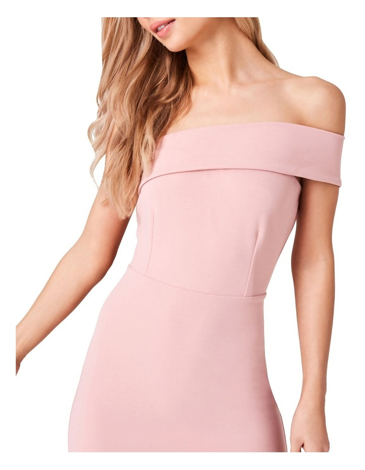 ONE SHOULDER BODYCON DRESS WITH ASYMMETRICAL FRILL HEM image 4
