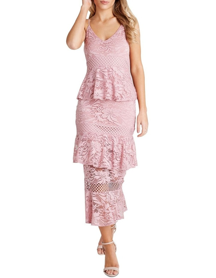FITTED MIDI DRESS image 1