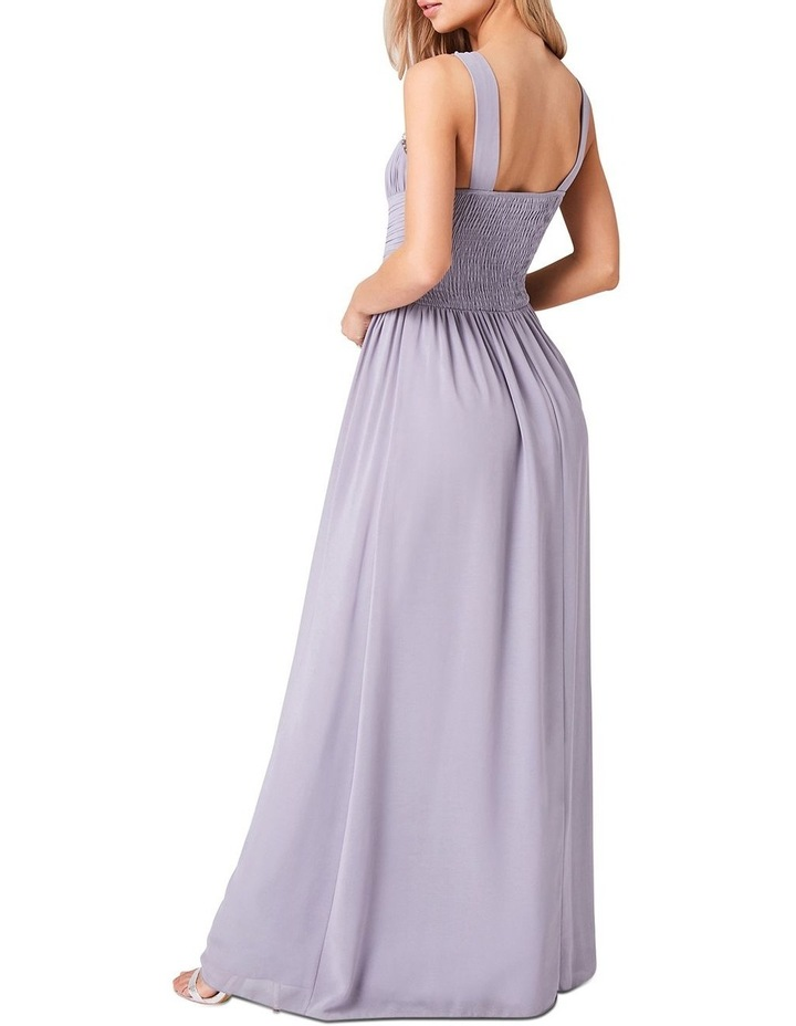 EMBELLISHED WITH PEARLS AT FRONT DETAIL CHIFFON MAXI DRESS image 2