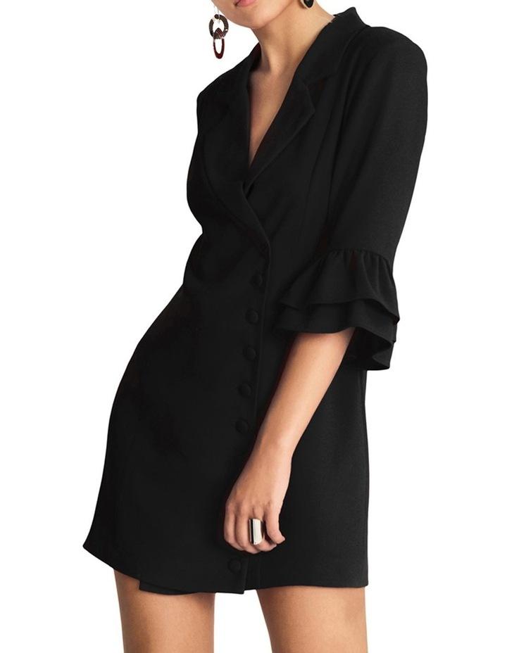 Short Blazer Style Dress With Notch Neck Lapel image 1