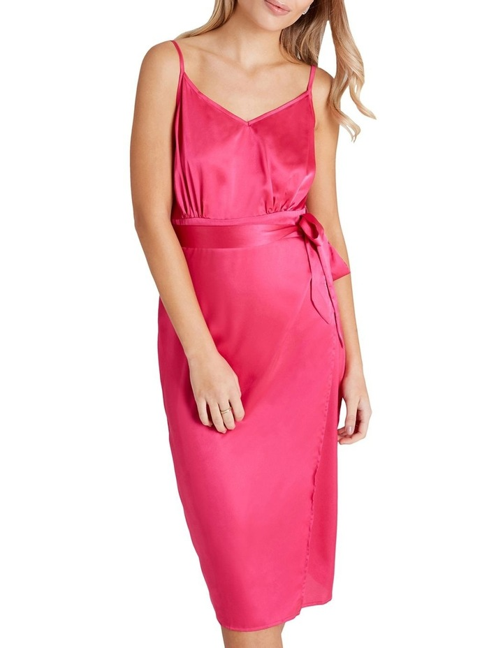Calf-Length Slip Dress With Tie-Waist And Wrap Over Style Skirt image 3