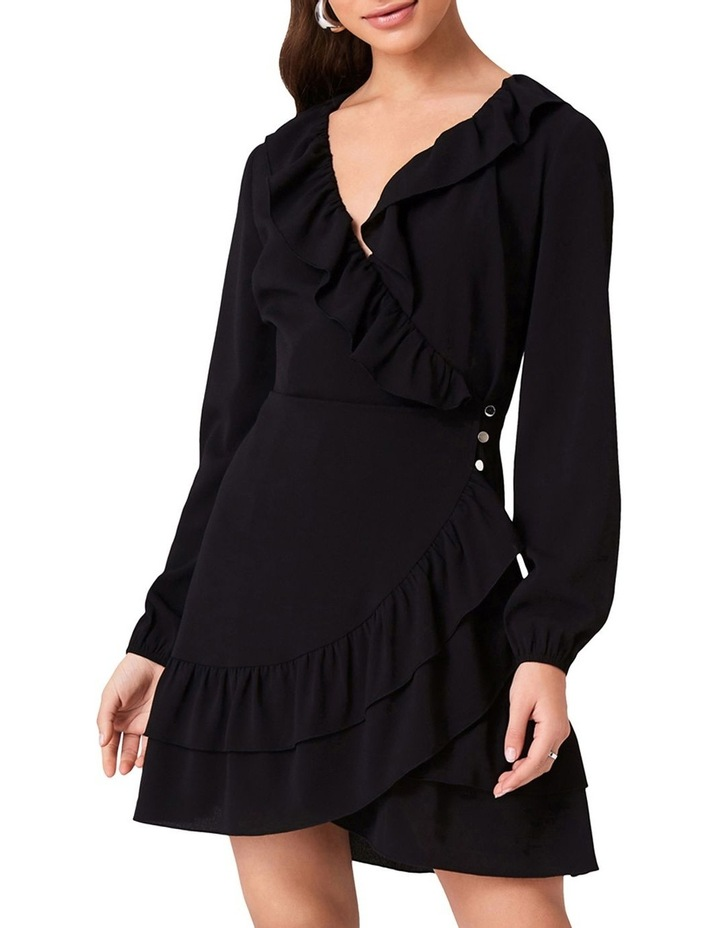 Wrap Dress With Frill Neckline And Double Frill Hem image 1
