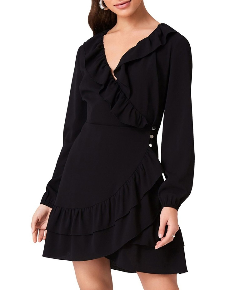 WRAP DRESS WITH FRILL NECKLINE AND DOUBLE FRILL HEM. image 1