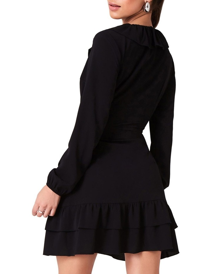 WRAP DRESS WITH FRILL NECKLINE AND DOUBLE FRILL HEM. image 2
