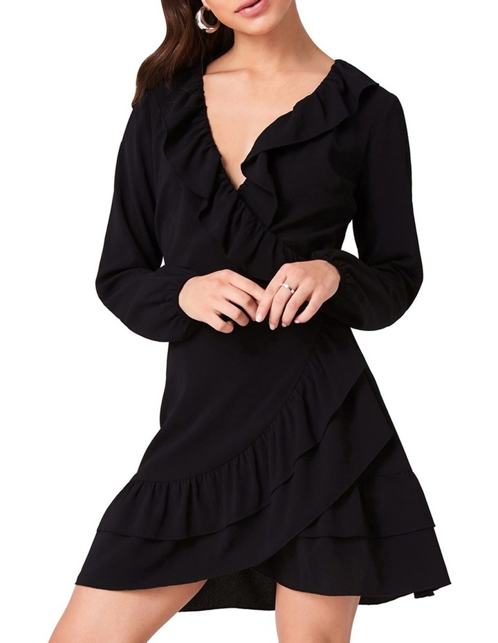 Wrap Dress With Frill Neckline And Double Frill Hem image 3