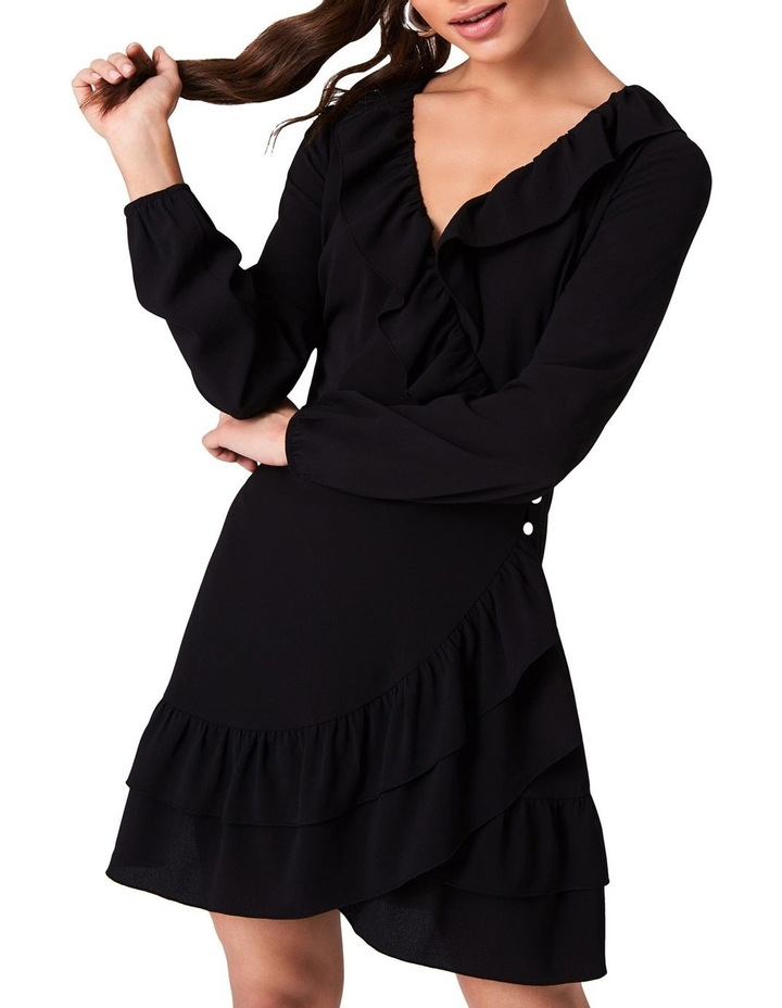 WRAP DRESS WITH FRILL NECKLINE AND DOUBLE FRILL HEM. image 4