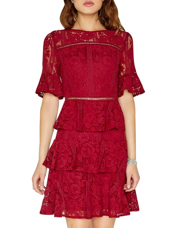 Lace Tiered Short Sleeve Dress image 3