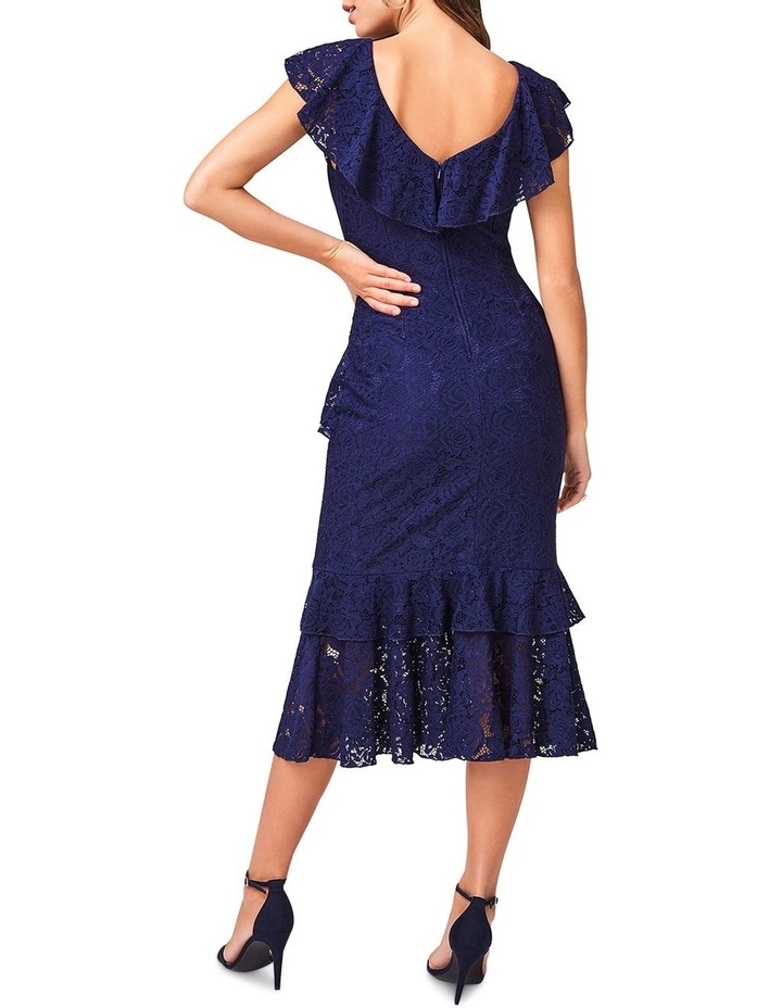 Esther Navy Lace Tiered Midi Dress image 2