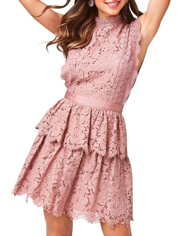 Lace Sleeveless Tiered Dress image 1