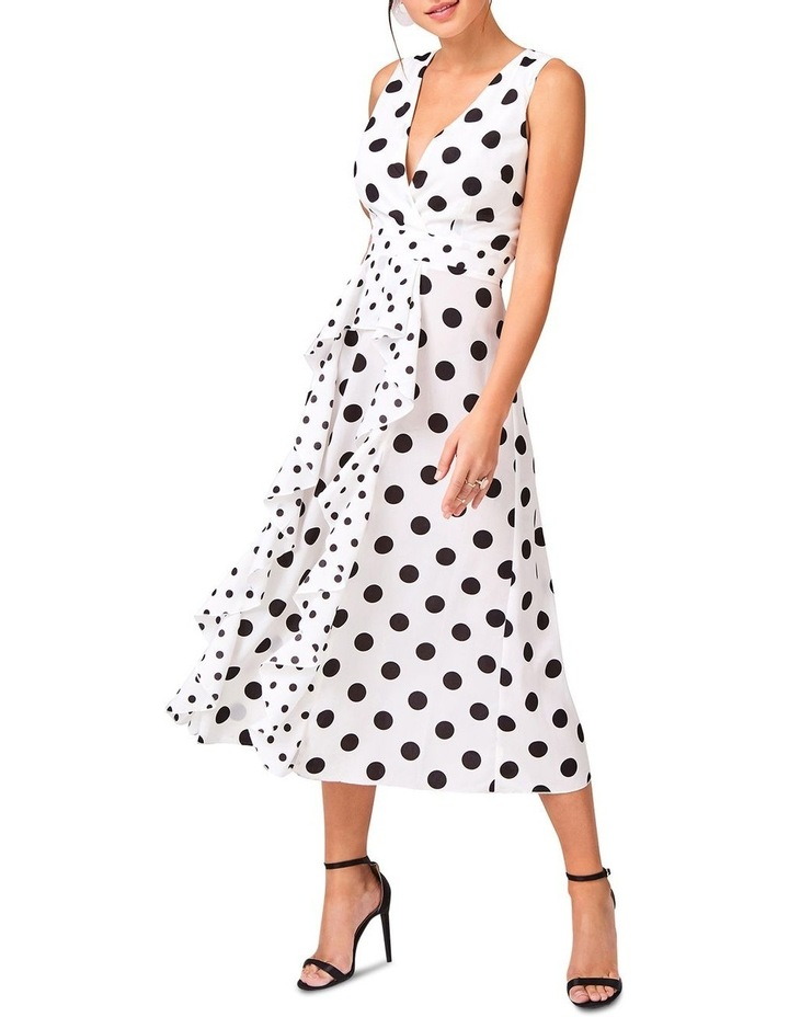 Black Spot Hankerchief Hem Dress image 1