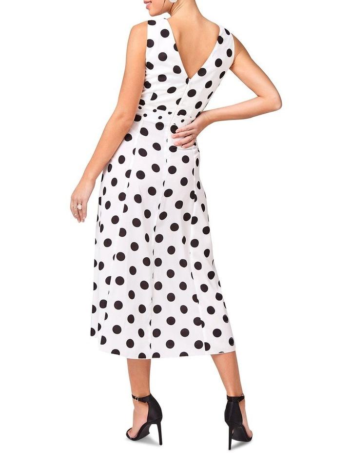 Black Spot Hankerchief Hem Dress image 3