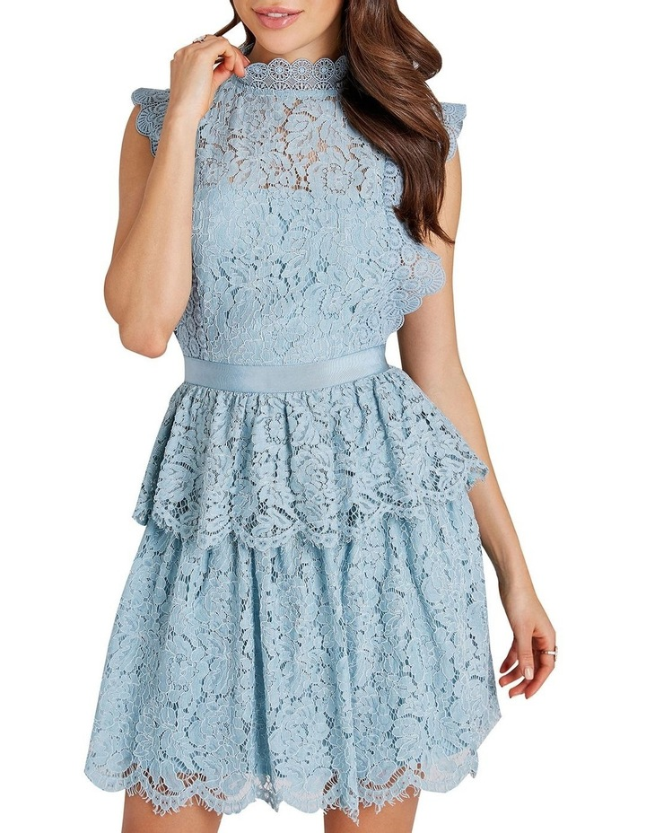 Lace Sleeveless Tiered Dress image 2