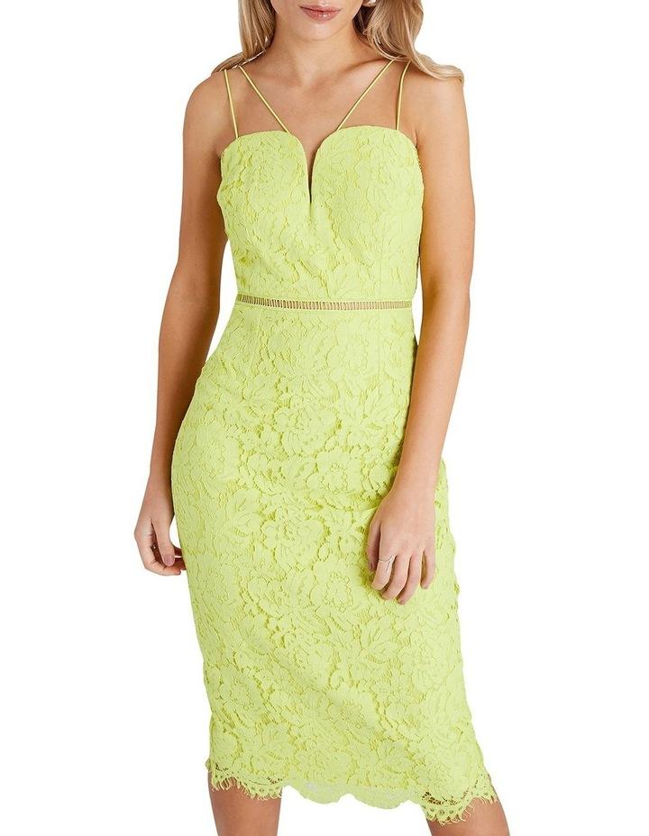 Strappy Lace Midi Bodycon Dress image 1