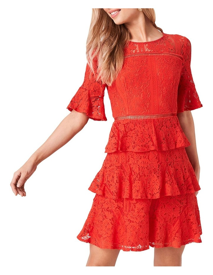Lace Short Sleeve Tiered Dress image 1