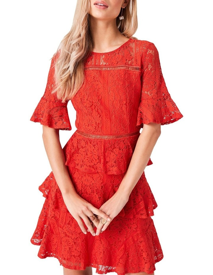 Lace Short Sleeve Tiered Dress image 2