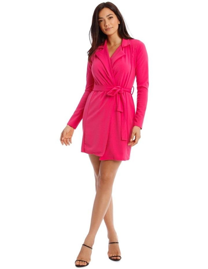 Belted Blazer Dress Crepe image 1