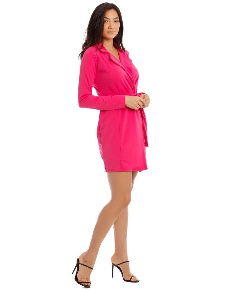 Belted Blazer Dress Crepe image 2