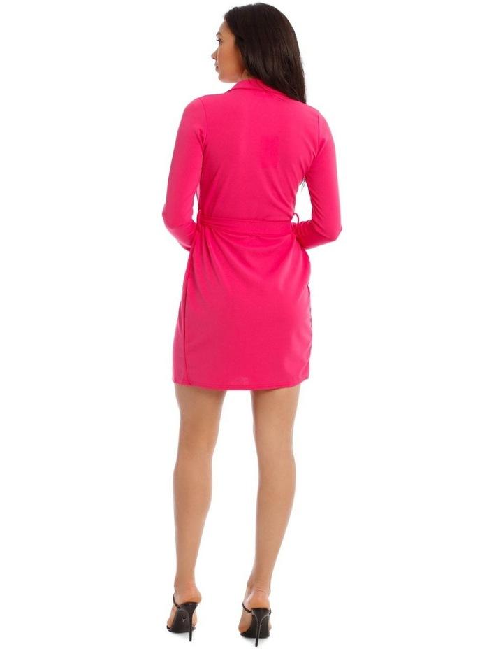 Belted Blazer Dress Crepe image 3