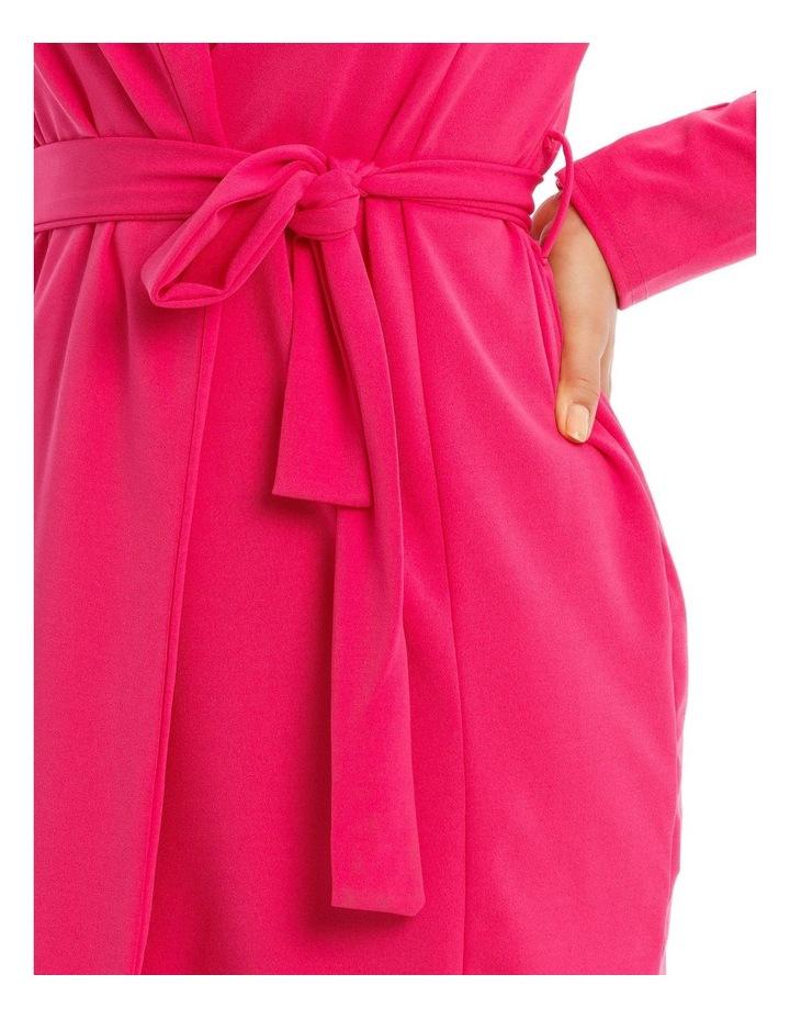 Belted Blazer Dress Crepe image 4