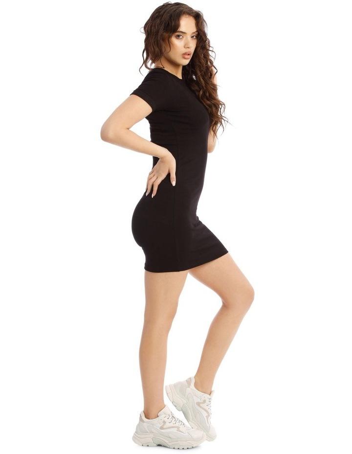 Short-Sleeve Ribbed Dress image 2