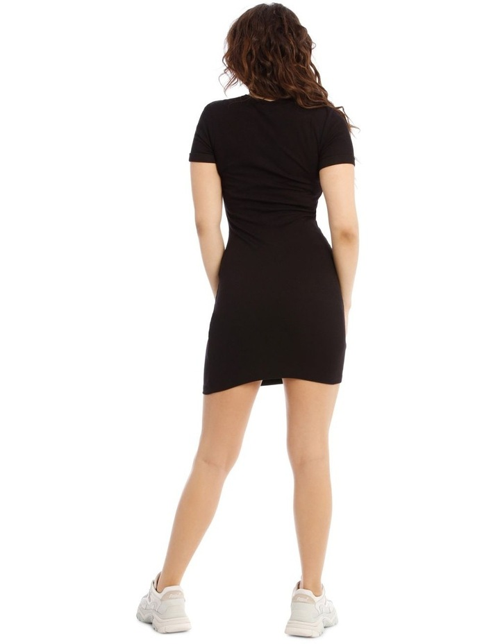 Short-Sleeve Ribbed Dress image 3
