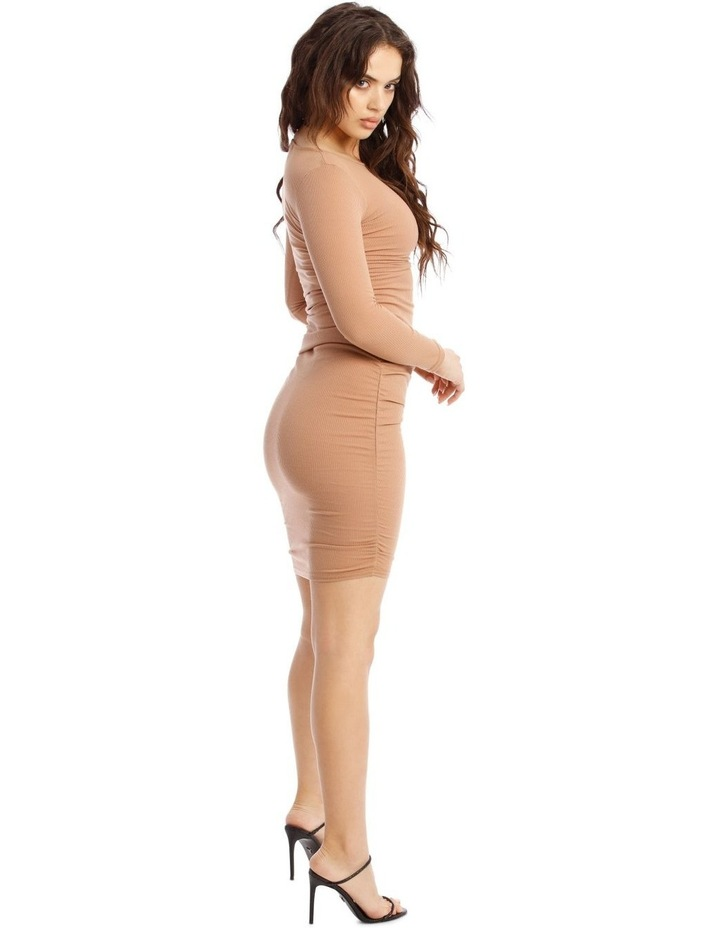 Ribbed Rouched Side Midi Dress image 2