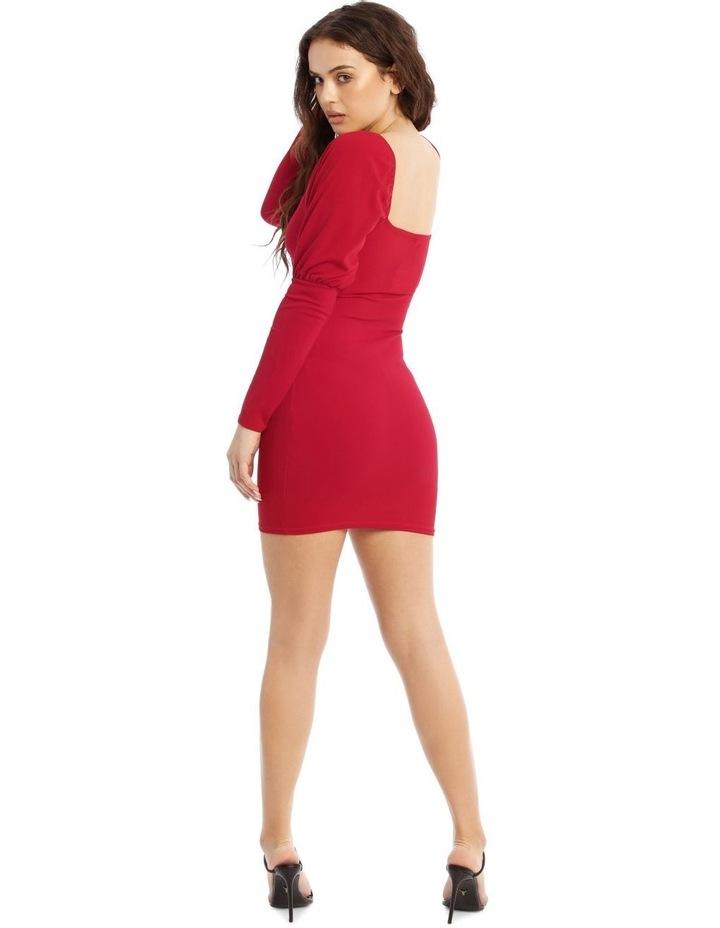Square Neck Puff Sleeve Low Back Mini Dress image 3