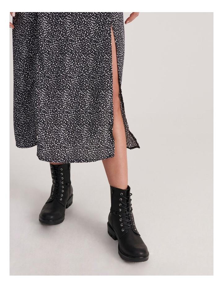 Flutter Sleeve Midi Dress Dalmatian image 4