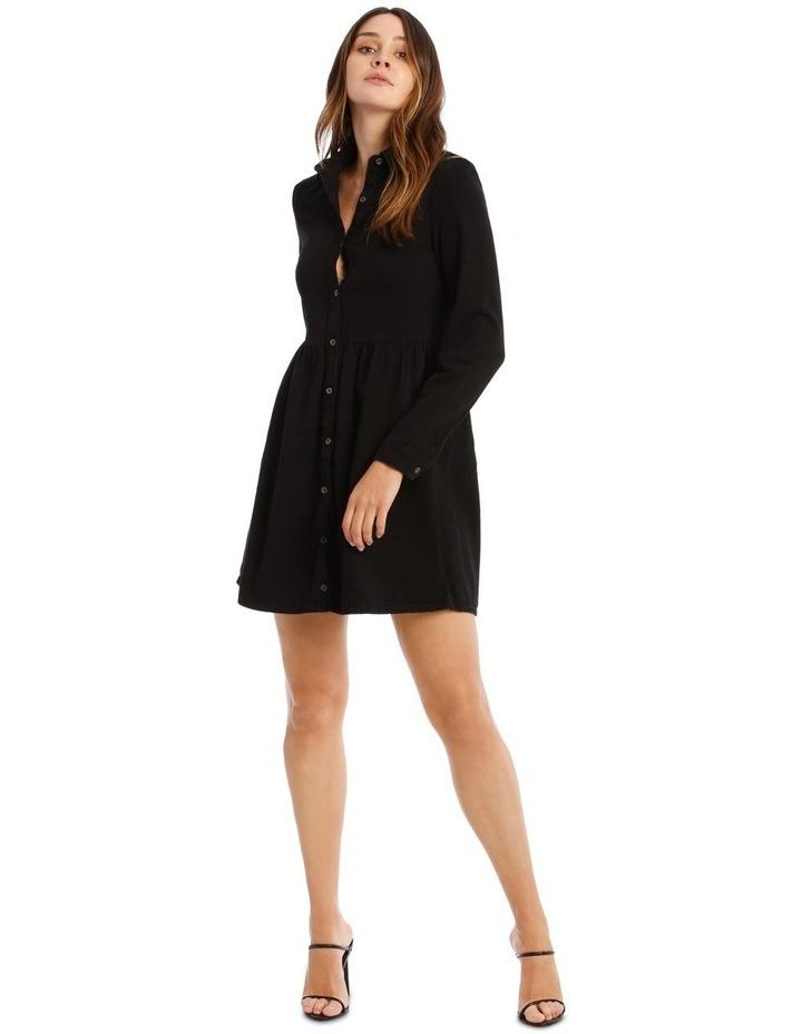 Denim Smock Dress Black image 1