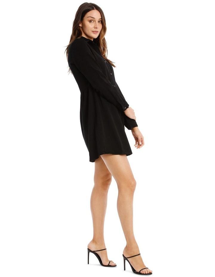 Denim Smock Dress Black image 2