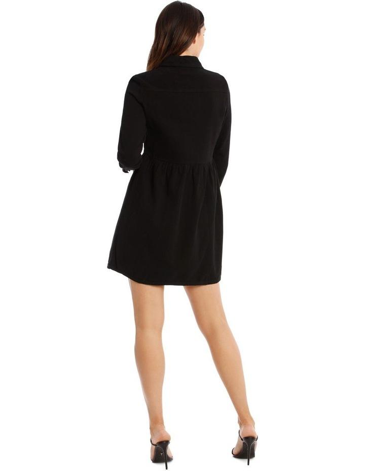 Denim Smock Dress Black image 3