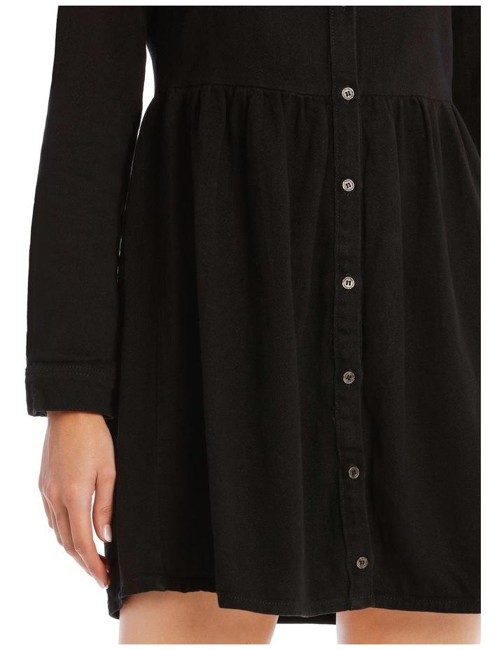 Denim Smock Dress Black image 4