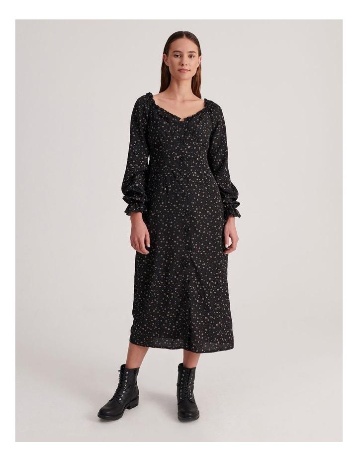 Milkmaid Midi Dress Long Sleeve Ditsy image 1