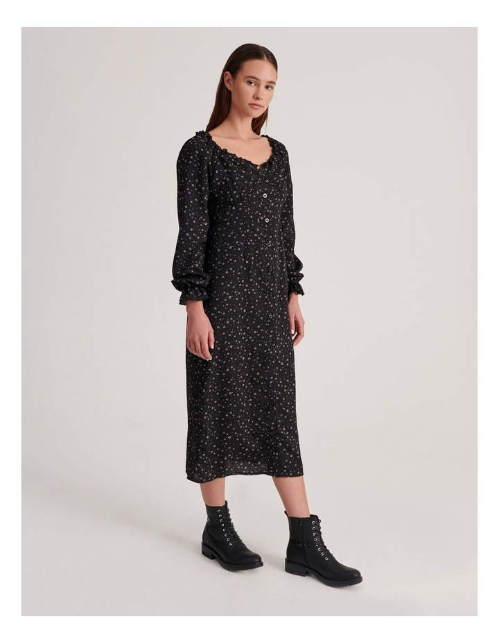 Milkmaid Midi Dress Long Sleeve Ditsy image 2