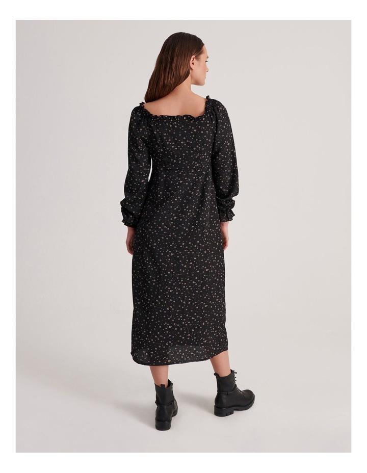 Milkmaid Midi Dress Long Sleeve Ditsy image 3