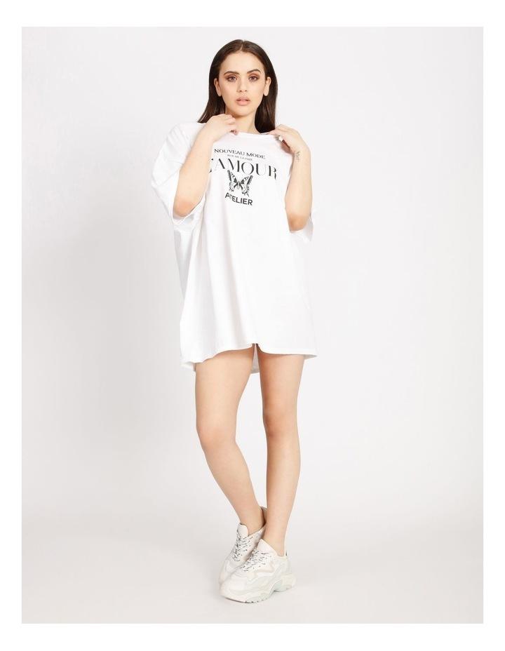 Oversized Tshirt Short Sleeve Dress image 1