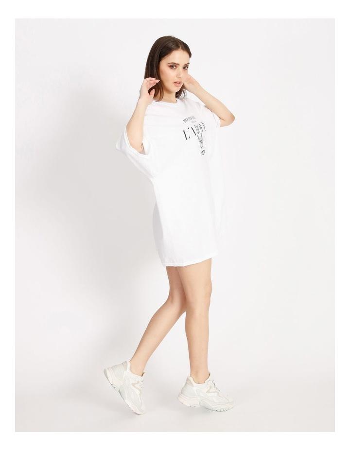 Oversized Tshirt Short Sleeve Dress image 2