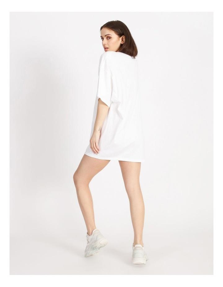 Oversized Tshirt Short Sleeve Dress image 3