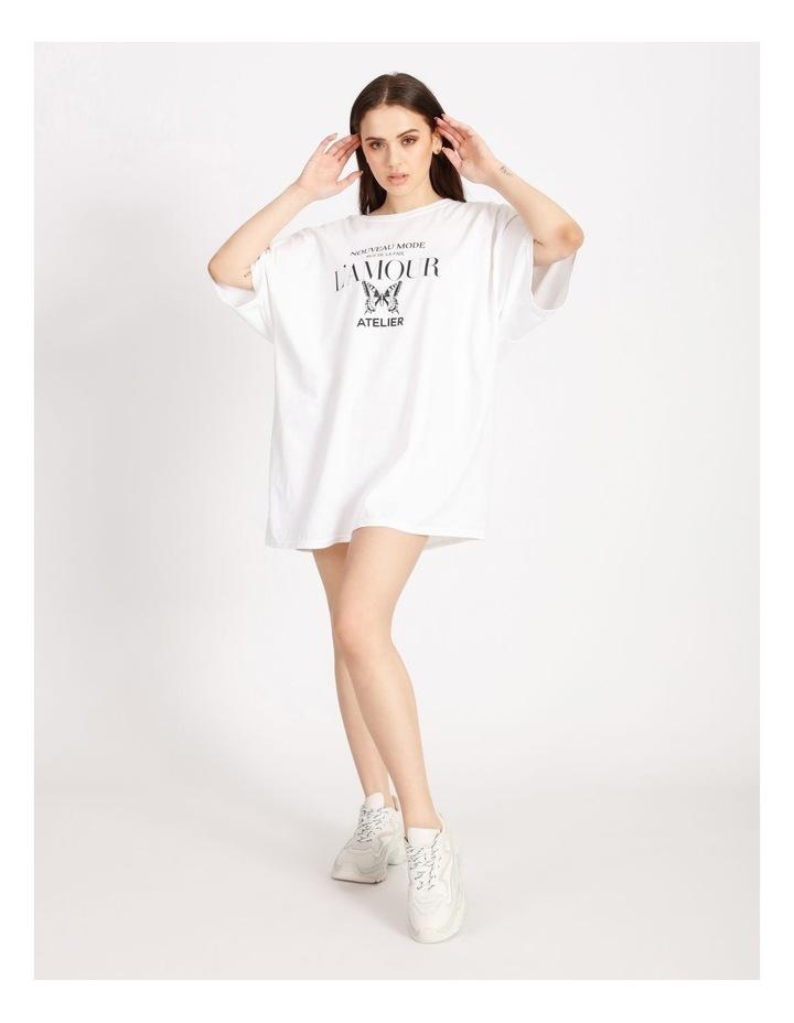 Oversized Tshirt Short Sleeve Dress image 4