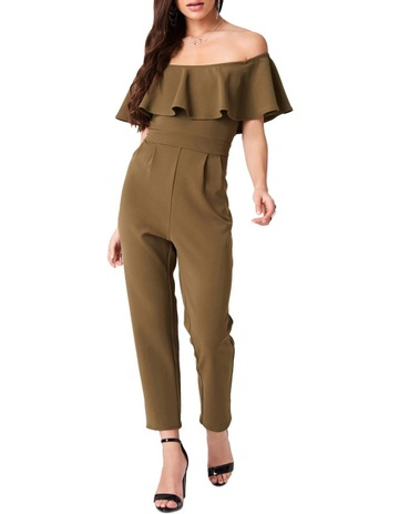 9a559c1a981 Girls On FilmSTRETCH BARDOT TAPERED LEG JUMPSUIT. Girls On Film STRETCH  BARDOT TAPERED LEG JUMPSUIT