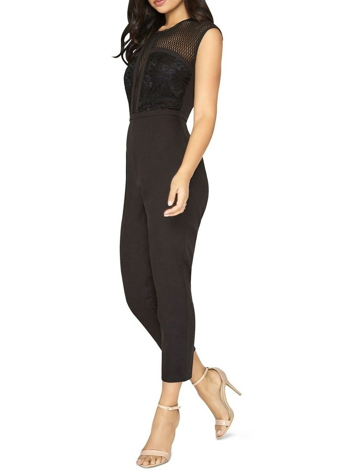 JUMPSUIT WITH LACE PANEL TOP image 3